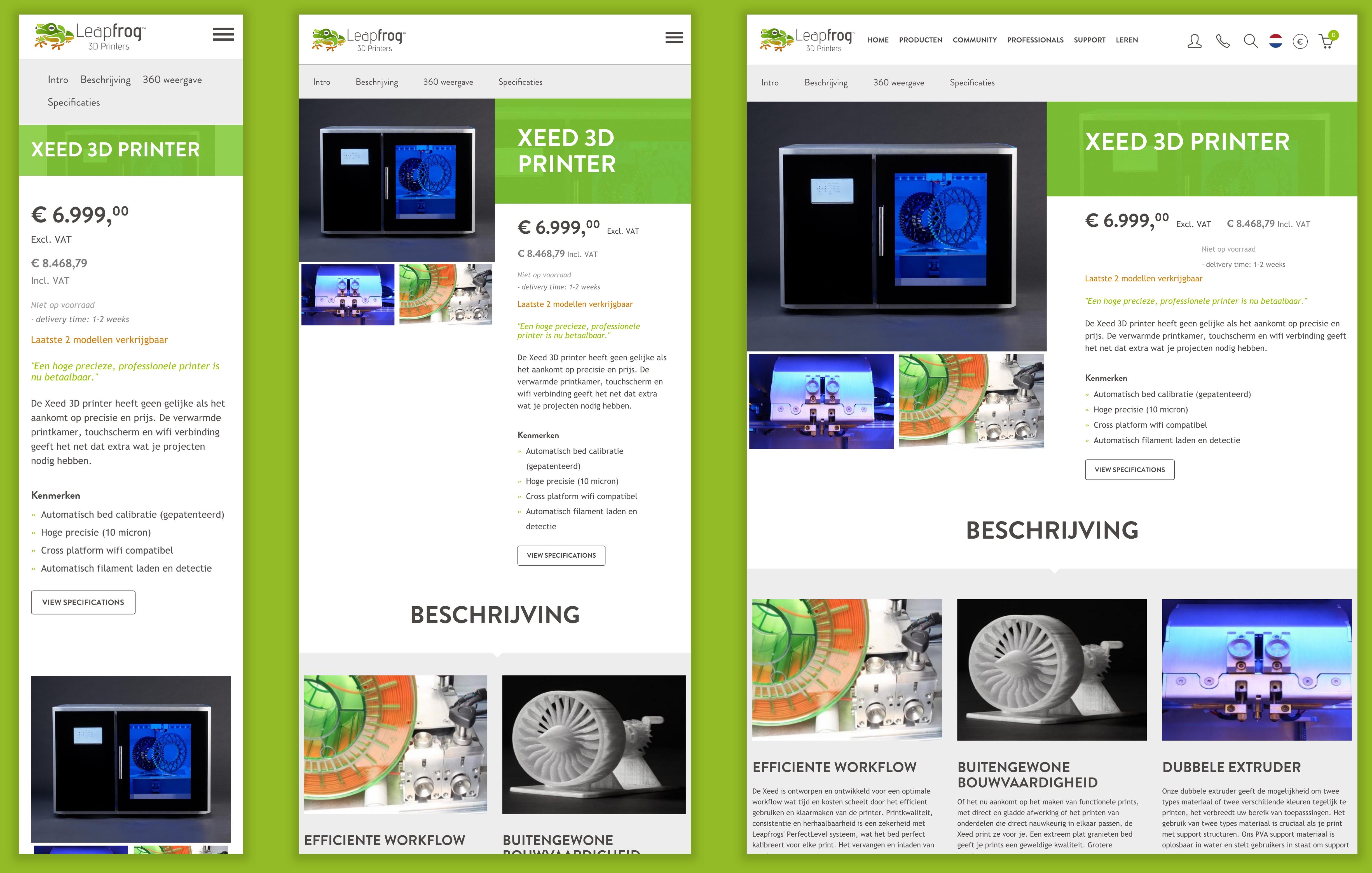 Afbeelding productpagina Leapfrog Xeed