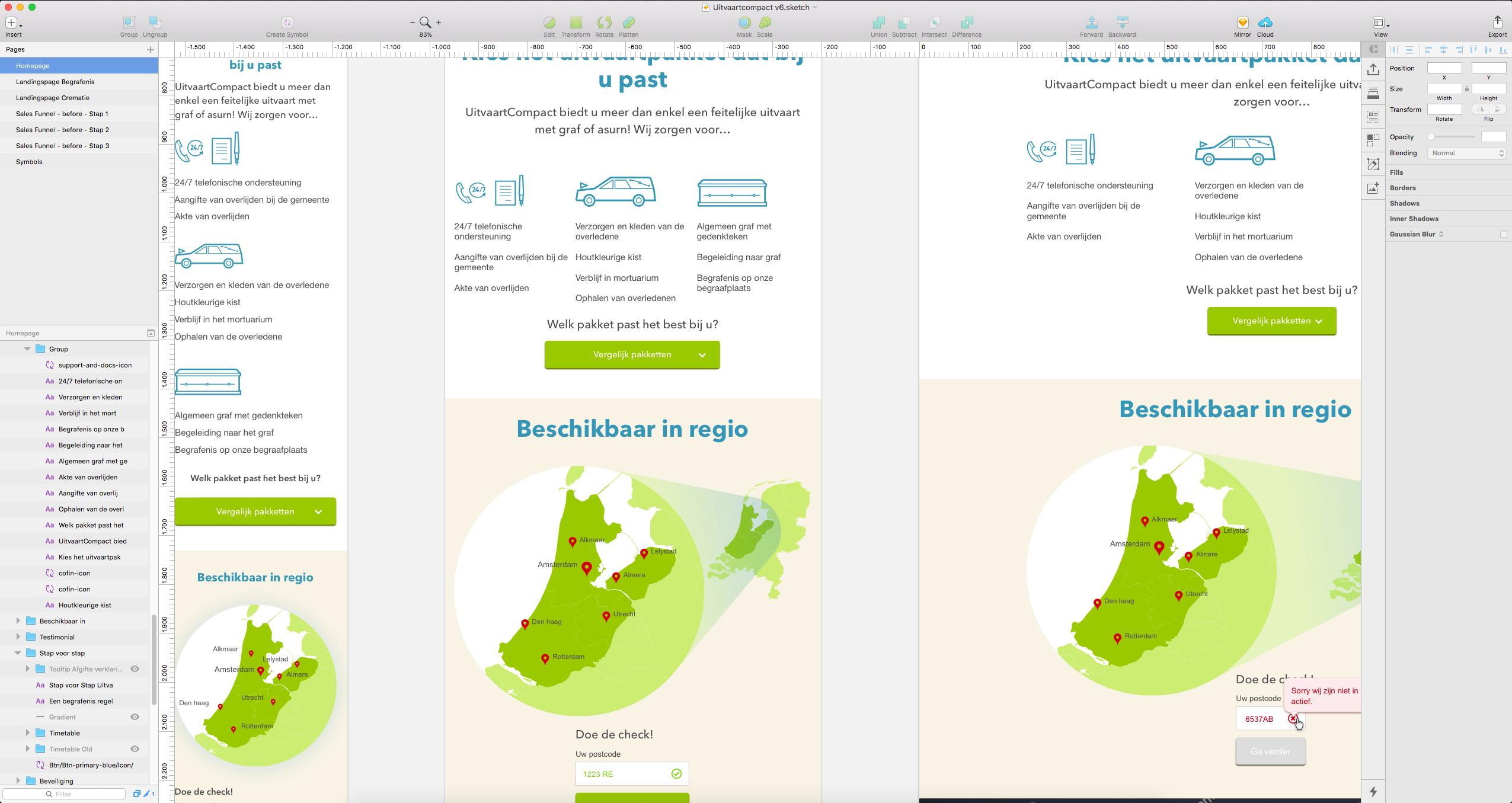 Responsive Sketch-ontwerp voor mobile, Tablet en Desktop